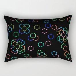 Hexagon Darkness Rectangular Pillow