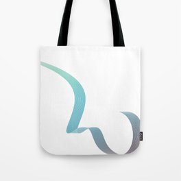 Blue Minimal elegant wave Tote Bag