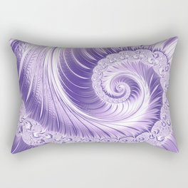 Ultra Violet Luxe Spiral Pattern | Trendy Color of the Year 2018 Rectangular Pillow