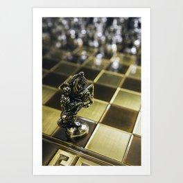 Chess horse Art Print