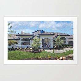 Photos California USA San Juan Capistrano Mansion Lawn Houses Cities Design Building Art Print