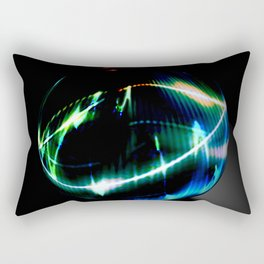 Abstract glass sphere full of colors - 3D rendering illustration Rectangular Pillow