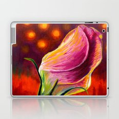 Pink rose oil painting on canvas Laptop & iPad Skin