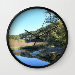 Where Canoes and Raccoons Go Series, No. 33 Wall Clock
