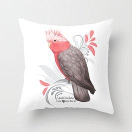 Galah Cockatoo Throw Pillow