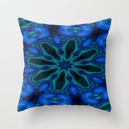 Battling At The Chasm Mandala 5 Throw Pillow