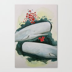 Whale You be My Valentine? Canvas Print