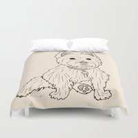 westie Duvet Covers featuring Westie Sketch by Circus Dog Industries
