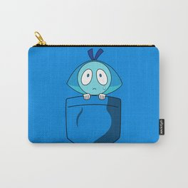 Aquamarine Pocket Tee Carry-All Pouch