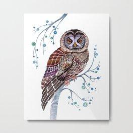 lacy owl Metal Print