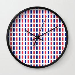 Flag of France 2- France, Français,française, French,romantic,love,gastronomy Wall Clock