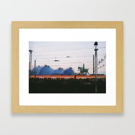 Subway and monument in Köln, Germany Framed Art Print