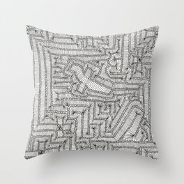 ALL PATHS LEAD BACK TO THE HIDDEN CROSS IN THE FRACTAL UNIVERSE! Throw Pillow