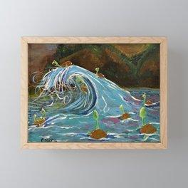 Turtle Rollercoaster  Framed Mini Art Print