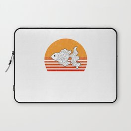 Vintage Goldfish Sunset Retro Gift Laptop Sleeve