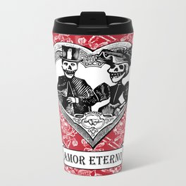 Amor Eterno | Eternal Love | Red and Black Metal Travel Mug