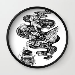 Space Music Wall Clock