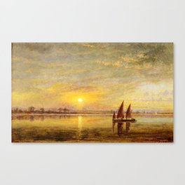 On the James River, Virginia by Edward Lamson Henry Canvas Print