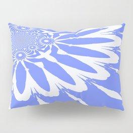 The Modern Flower Baby Blue & White Pillow Sham