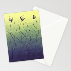 Purple Algae Plants In Green Water Stationery Cards