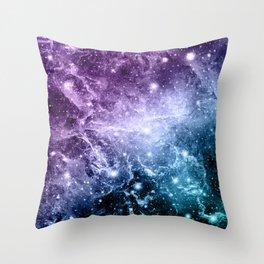 Purple Teal Galaxy Nebula Dream #4 #decor #art #society6 Throw Pillow