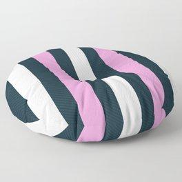 Modern Decorative Rose Pink White Vertical Pattern Stripes Floor Pillow