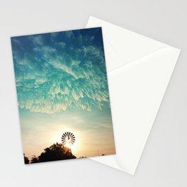 Windmill Sunrise Stationery Cards