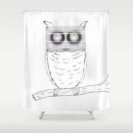 Owl cassette Shower Curtain