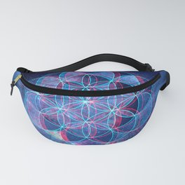 Glitch Seed of Life Fanny Pack