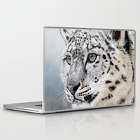 snow leopard Laptop & iPad Skins featuring Snow Leopard by Aaron Jason