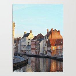 Belgium, City Canal 4 Poster