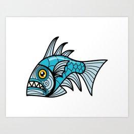 Escher Fish pattern I Art Print