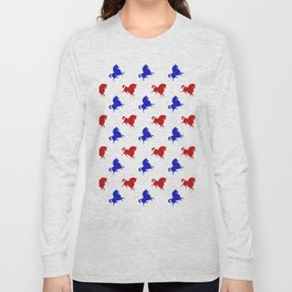 red blue horses Long Sleeve T-shirt
