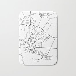 Stornoway Minimalist City Map Bath Mat