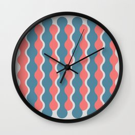 Midcentury Pattern 05 Wall Clock