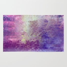 Abstract in Purples and Green Rug
