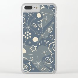 Music Pattern Clear iPhone Case