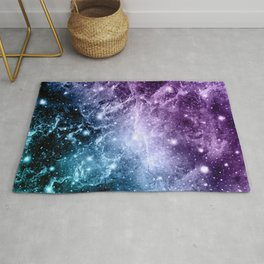 Purple Teal Galaxy Nebula Dream #4 #decor #art #society6 Rug