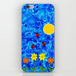 Blue Sky Summers Day iPhone Skin