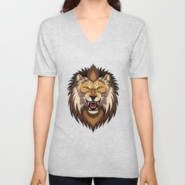 Lion's head Unisex V-Neck