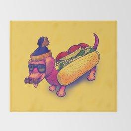 Chicago Dog Throw Blanket