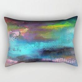 Aurore Boreal 'série Footprint' Rectangular Pillow