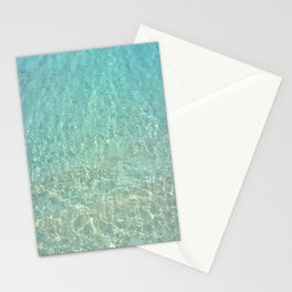Colors of the Sea Water - Clear Turquoise Stationery Cards