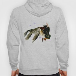 Black Moor, fish art, design cute black fish Hoody