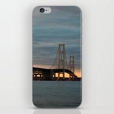 Sunset at the Mackinac Bridge iPhone & iPod Skin