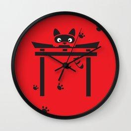Curious Tanuki Wall Clock