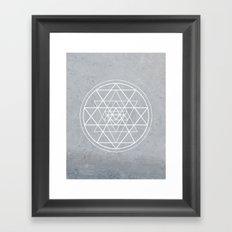 Sacred Geometry - Align At Your Center Framed Art Print