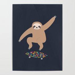 Sloth Gravity Poster