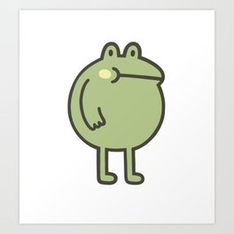 Awesome Frog Art Print