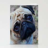 pug Stationery Cards featuring Pug by Whimsy Notions Designs